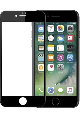 Case 4U Apple iPhone 7 Full Kapatan 3D Kavisli Cam Ekran Koruyucu Siyah