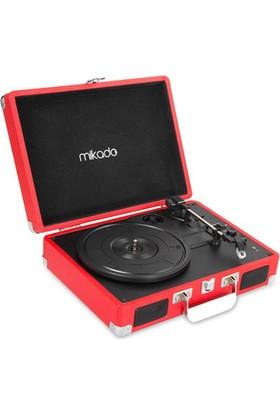 Mikado Nostalgia MN-P317 Kırmızı Turntable + Rca + Bluetooth Destekli Pikap