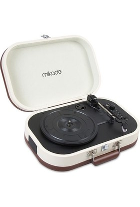 Mikado Nostalgia Mn-101 Pikap Fil Dişi Turntable+Rca+Bluetooth Destekli Müzik Kutusu -