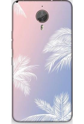 Exclusive General Mobile Gm5 Plus White Palms Design Kapak