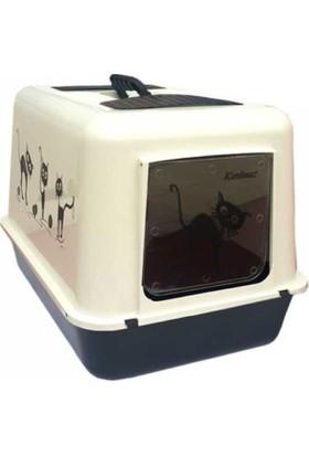 Petimister Kedi Kapalı Tuvalet Kabı