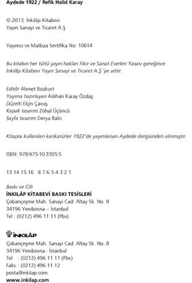 Aydede - 1922-Refik Halid Karay