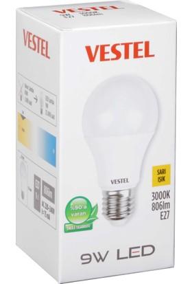 Vestel Led Ampul E27 9W 806LM 30K Sarı