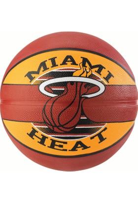 Spalding Basketbol Topu NBA Team Heat 2017 N:7 Rbr Bb (83-507Z)