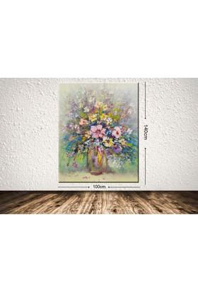 Tablo Center Dev Boyut Çiçek Kanvas Tablo 100 x 140 cm