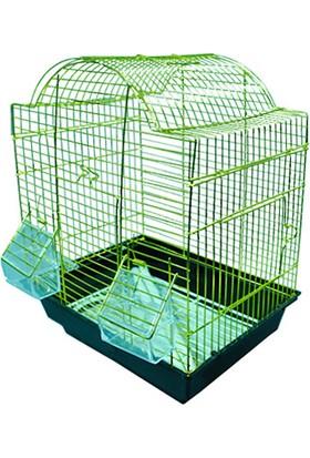 Qhpet Pirinç Telli Üçgen Çatılı Kuş Kafesi 30X23x39 Cm