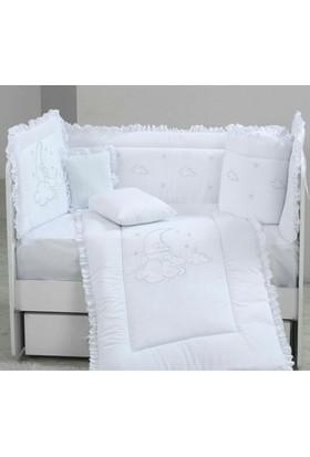 Babyzone Nakışlı 70 x 130 Beyaz Düş Bebek Uyku Seti