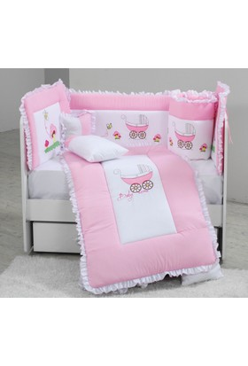 Babyzone Nakışlı 70 x 130 Arabalı Bebek Uyku Seti