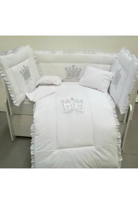 Babyzone Nakışlı 70 x 130 Taç Bebek Uyku Seti