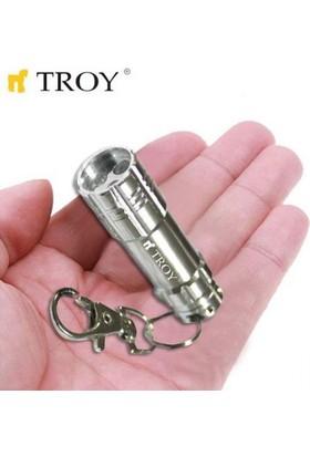 Troy Anahtarlikli 3 Ledli Aluminyum Mini Fener - 1 Adet