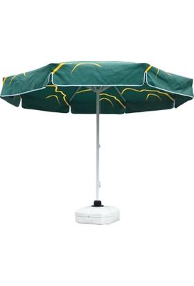 Tevalli Yuvarlak 3 metre Plaj Balkon Bahçe Şemsiyesi - Yeşil