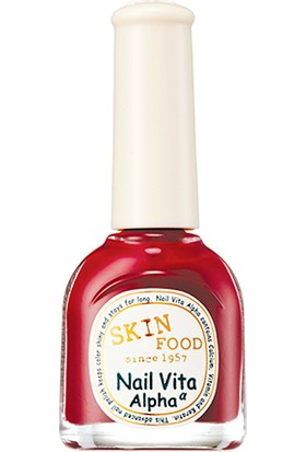 Skinfood Nail Vita Alpha ∝ Dayanıklı Oje (are06 (Kirazlı Kek)) 10ml