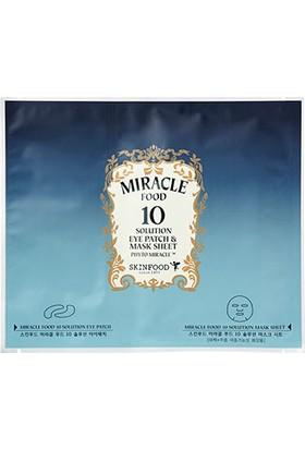 Skinfood mıracle food 10 solutıon eye patch & mask sheet, 31gr