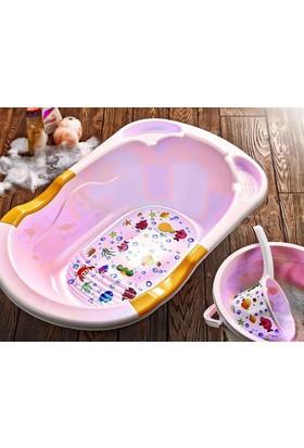 Hiper 5 Parça Bebek Banyo Seti - Pembe