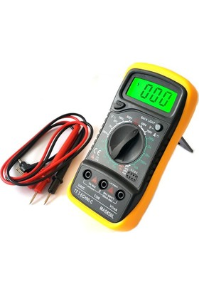 TT-TECHNIC MAS830L Dijital Multimetre Ölçü Aleti Işıklı LCD Ekranlı