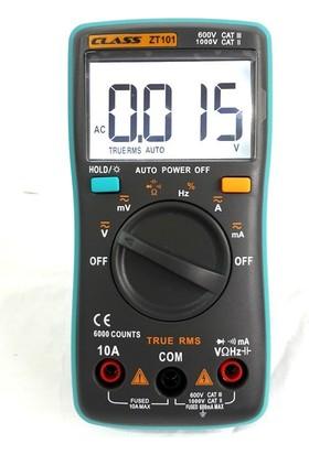 Class ZT101 Işıklı Dijital Multimetre Ölçü Aleti True RMS