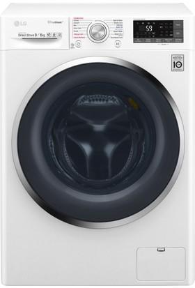 LG F4J8FHP2W 9 / 6 Yıkama Beyaz Kurutmalı Çamaşır Makinesi