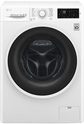LG F4J6TMP0W 8/5 Yıkama Beyaz Kurutmalı Çamaşır Makinesi