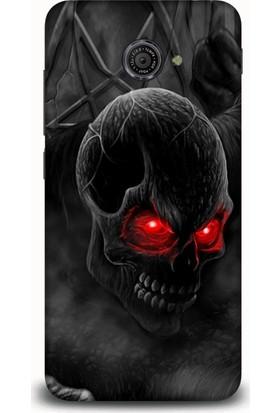 Exclusive Vodafone Smart 7 Ultra   Red Eyes Skull Design Kılıf