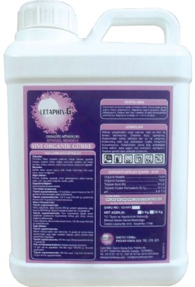 LETAPHIN - G Bitkisel Menşeili Sıvı Organik Gübre Ateş Yanıklığına Son 5KG