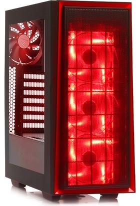 Silverstone Redline RL06 Kırmızı Ledli Usb 3.0 Mini Tower Kasa (SST-RL06BR-PRO)