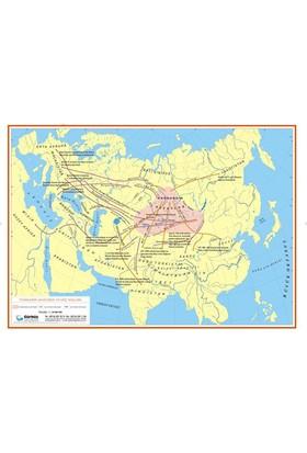 Türklerin Anayurdu ve Göç Yolları Haritası