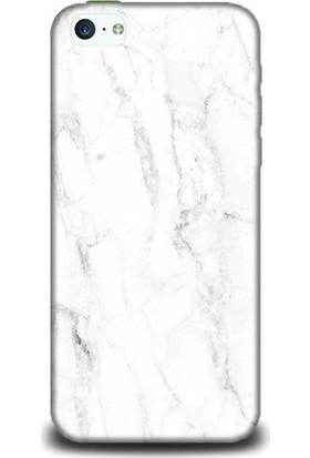 Exclusive iPhone 5C Beyaz Mermer Design Kılıf