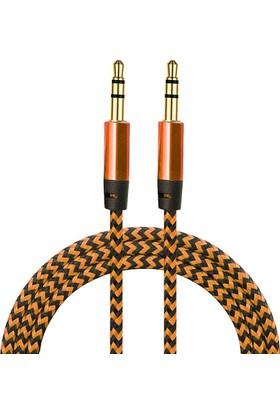 Diwu AUX Stereo 3.5mm Data Ses Örgü Kablo Bakır