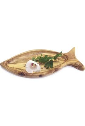 Egedeneve Zeytin Ağacı Balık Formlu Tabak Küçük