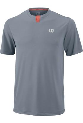 Wilson Summer Henley Erkek Çocuk T-Shirt Tradewinds/Hot Coral (MD) (WRA751501MD)