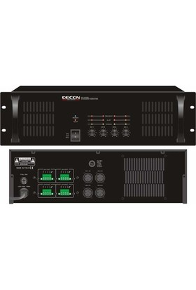 Decon DP 4300B Power Amplifikatör 4x300W 70/100 Volt, 4-16 Ohm