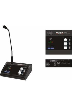 Decon DP 8000A 8 Bölgeli Anons Mikrofon Konsolu