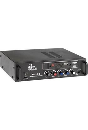Eagletech ET-60 - 60W 100V/8 Ohm Mikser Amfi