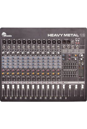 Fomix HM 12 - 12 Mono, 1 Stereo Efektli Ses Mikseri