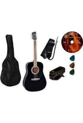 Jay Turser JJ 45 PAK BK Akustik Gitar