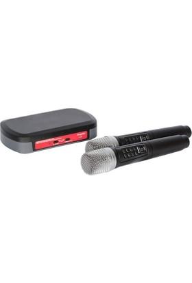 Doppler K-102 Bluetoothlu 2.4 GHZ Çiftli Karoke Mikrofon Seti