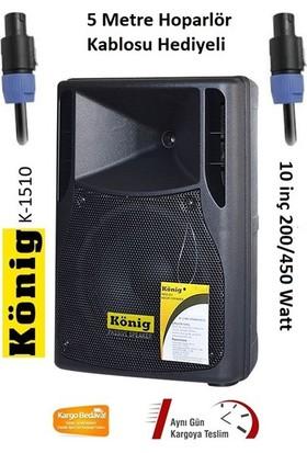 König K-1510 10 inç 200/450 Watt 2-Yollu Pasif Kabin Hoparlör