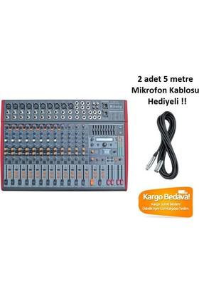 König K-1601 FX 16 Kanal Efektli Analog Mikser