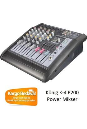König K-4 P200 4-Kanal 2x170-Watt Power Mikser