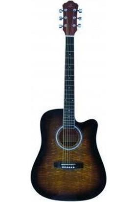 Barcelona LF4100CTSB Elektro Akustik Gitar