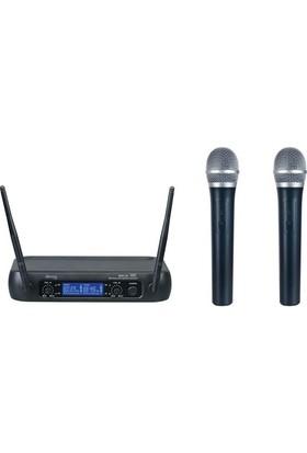 Denox Astron Serisi MDR-220 El Tipi Telsiz Mikrofon Seti (Çift El-UHF)