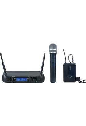 Denox Astron Serisi MDR-220 EL+Yaka Tipi UHF Telsiz Mikrofon Seti