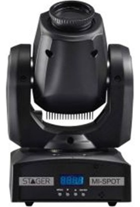 Stager MI SPOT - 1 x 18W Led 7 Renk 7 Gobo Mini Moving Head