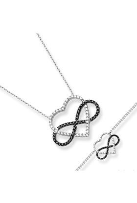 Aez Silver Kalp Ve Sonsuzluk Gümüş Set