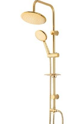 Venezia Gold Yağmur Duş Seti Altın