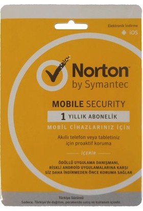 Norton Mobile Security 1Cihaz 1Yıl