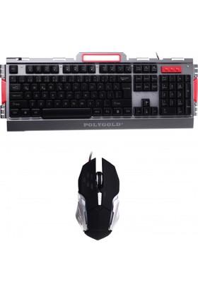 Polygold Gaming Klavye & Mouse Set