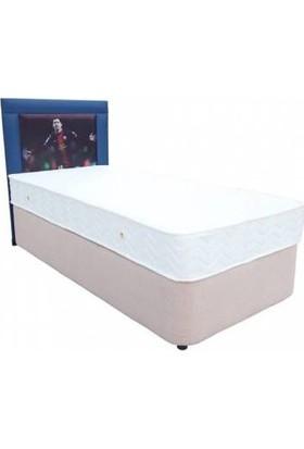 Homeshoppingmall Tek Kişilik Baza+Yatak+Başlık Messi