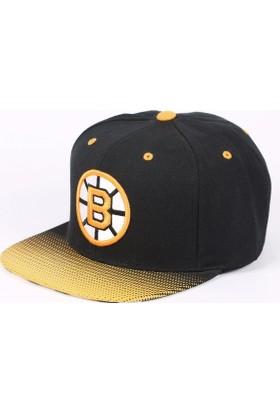 Mitchell & Ness Boston Bruins Sarı Ve Siyah Snapback Cap