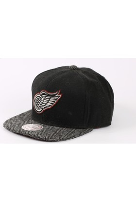 Mitchell & Ness Detroit Red Wings Siyah Snapback Cap